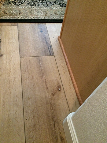 Image of Repaired Floor and Baseboard