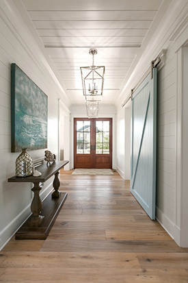 Image Entry Hall with Barn Style Doors