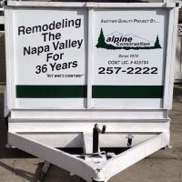 Photo of the new paint job on Alpine Trailer