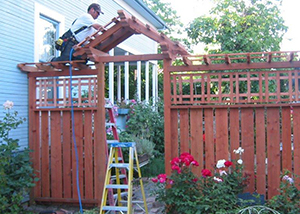 Alpine Construction Crew working on a fence job