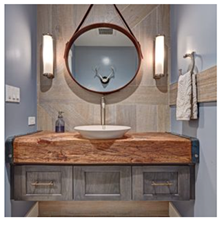 Example of a floating vanity