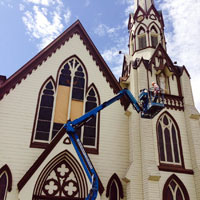 Lift used for Earthquake Repair to Church